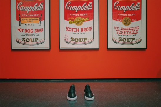 Perry Co. Shoes with Authentic Andy Warhol Pop Art