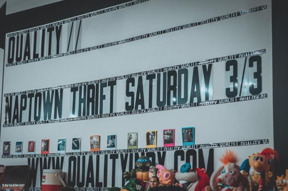 Naptown Thrift and Quality Indy Pop-Up Marquee