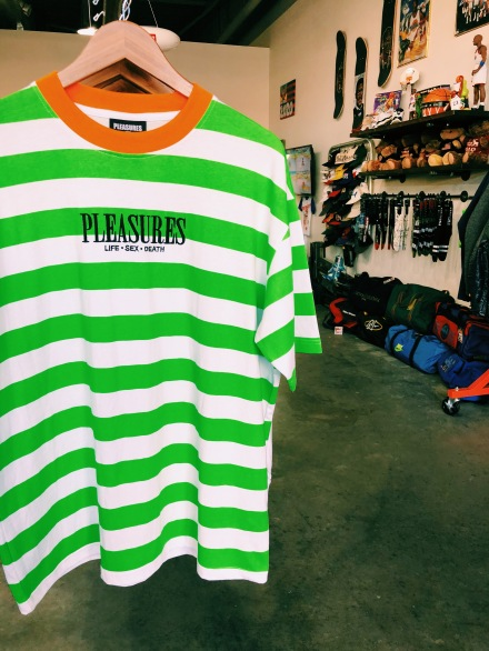 Pleasures tee offered at Quality Indy