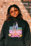 Midwest in Bloom Soul Culture Black Hoodie