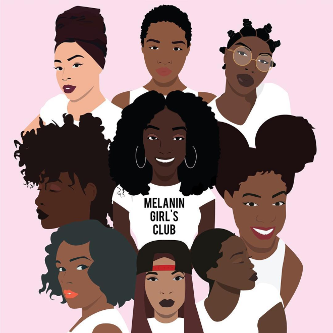 Melanin Girls Club Cartoon